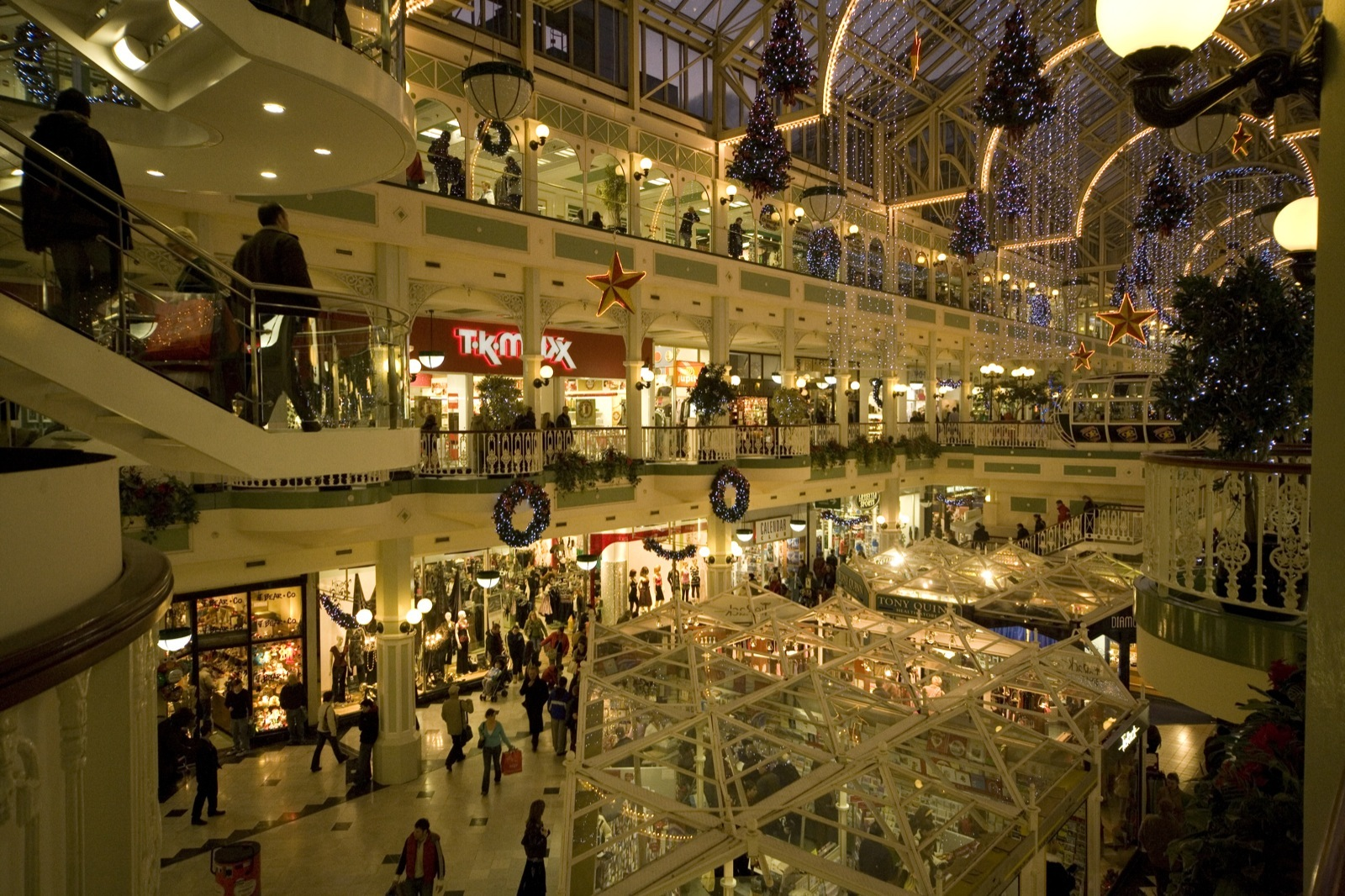 Busy stores during holiday shopping season