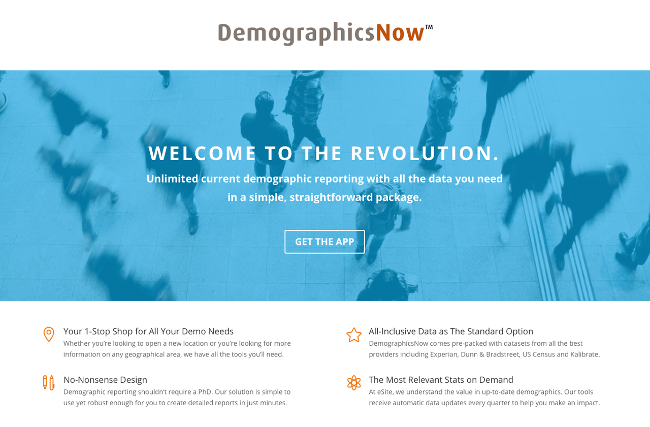 Demographics Now eSite Alteryx